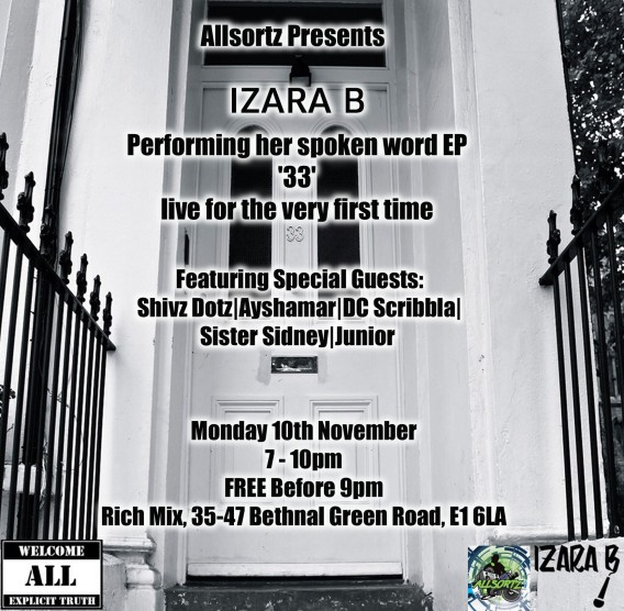 Allsortz Open Mic hosts Izara B's first EP launch!